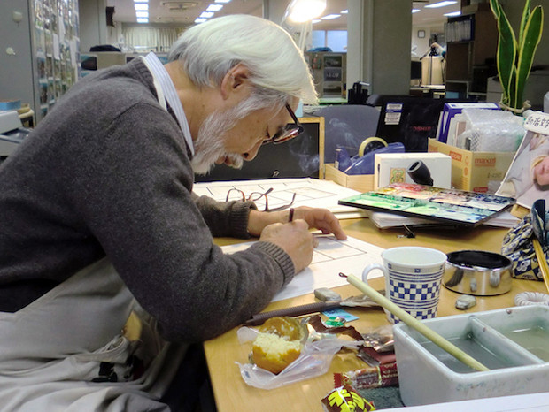 Hayao Miyazaki working on Boro The Caterpillar. - Headstuff.org