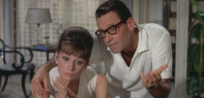 Hepburn and Holden in Paris When it Sizzles (1964) - HeadStuff.org